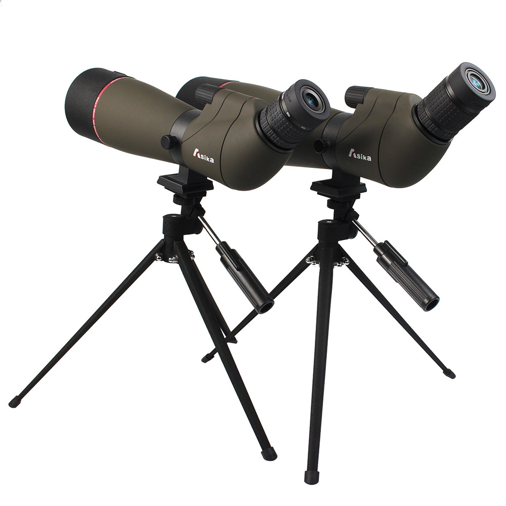 Asika 20 60x65 20 60x80 Spotting Scope BAK4 Monocular Telescope IPX7 Waterproof for Hunting Bird Watching