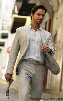 Szyte na miarę pościel beżowy garnitury męskie Slim Fit formalne pan młody sukienka na studniówkę smokingu w stylu Casual, letnia styl 2 sztuka mężczyzna żakiet z dzianiny dresowej + spodnie