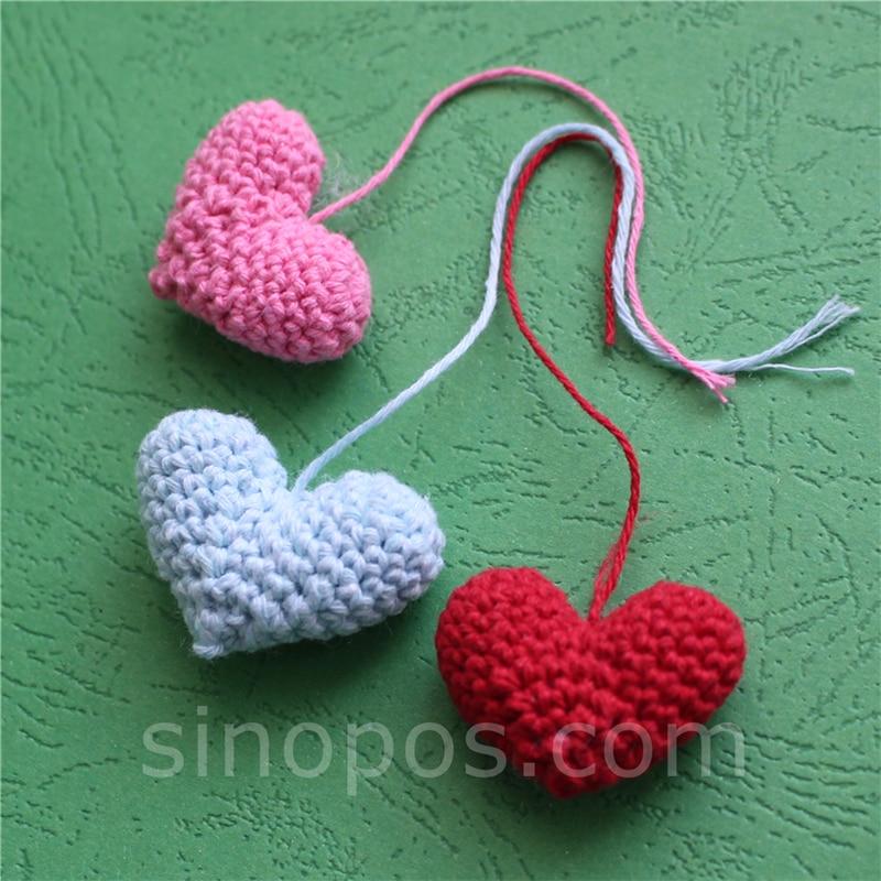 CROCHET PINK HEARTS APPLIQUES EMBELLISHMENTS SUPPLIES  VALENTINE  BABY GIRLS