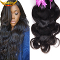 7A Unprocessed Peruvian Virgin Hair Body Wave 4Bundles Human Hair Peruvian Body Wave Hair Bundles NO Shedding Crown Hair Product