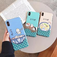 Matte Soft TPU Case For iPhone 6 6s 7 8 Plus Cute Little Dumplings Pattern Protective Cover For iPhone XMAX X XR Japanese Style стоимость