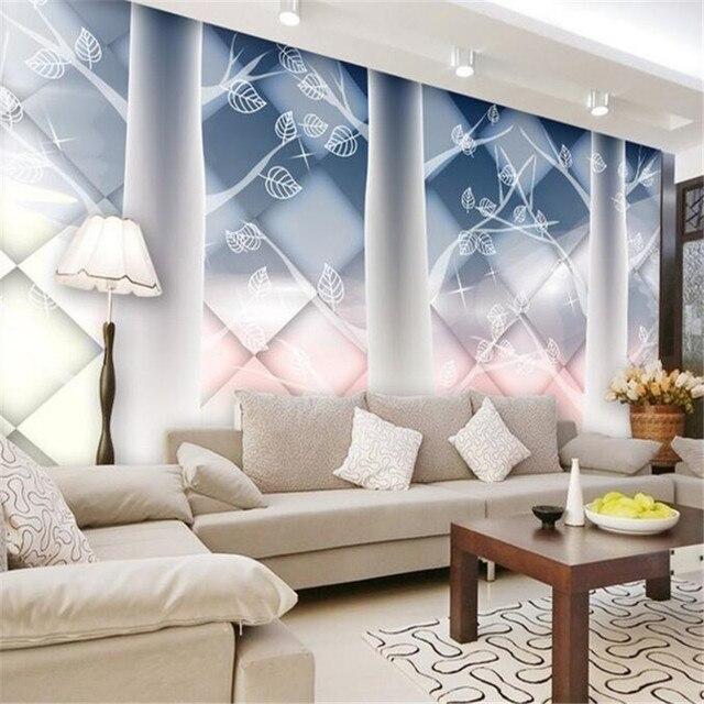 Maßgeschneiderte Moderne 3d Foto Fresko Vliestapete 3d Fantasie Abstrakten  Baum Sofa TV Hintergrundbild Für Wohnzimmer