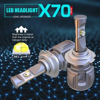 1 Set H7 60W 7800LM XHP-70 lente Chips X70 LED faro H4 H8 H9 H11 9005, 9006 de 9012 HB3 D1S/D2S/D3S/D4S blanco 6000K 120W 15600lm