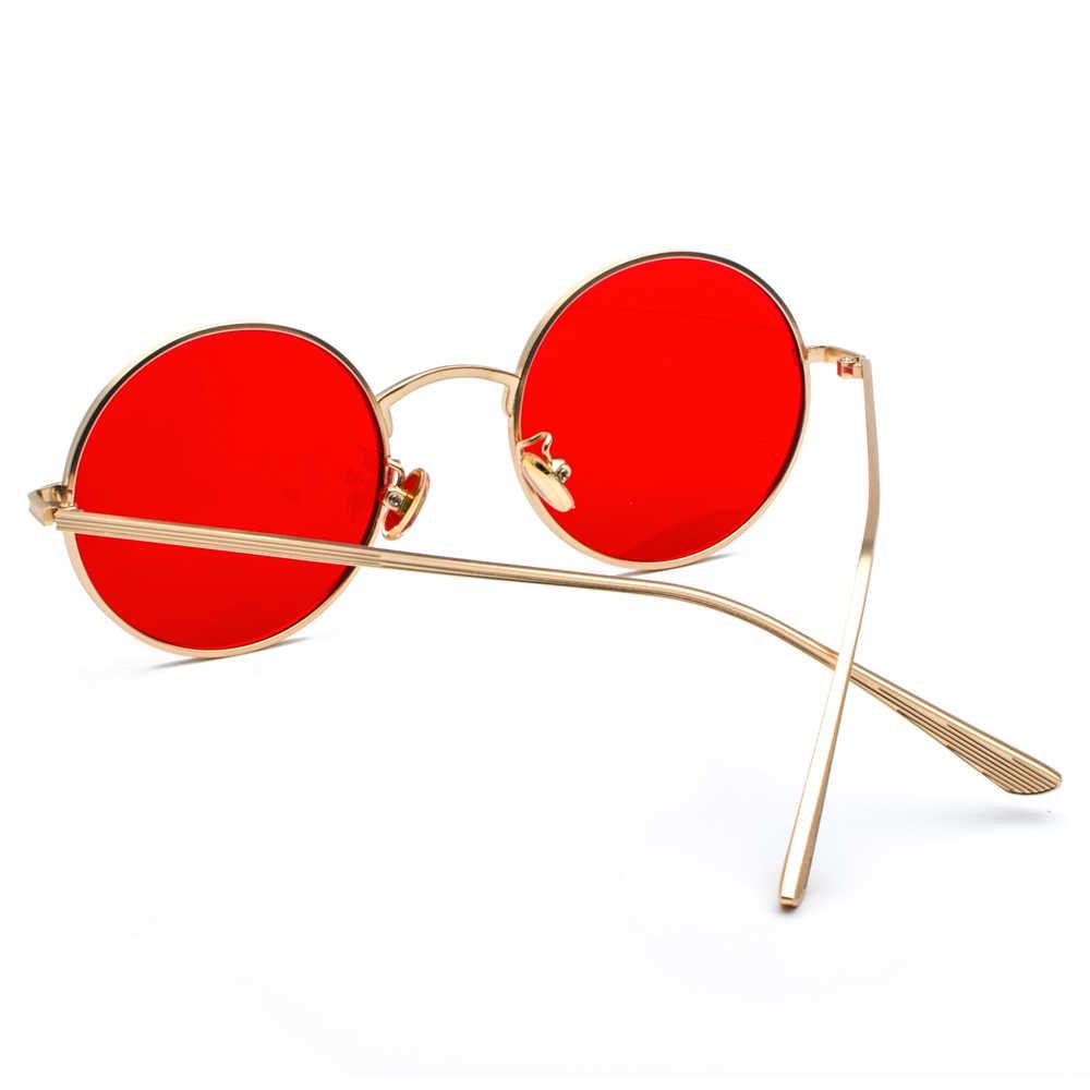 8f79da1575f ... Peekaboo gold round metal frame sunglasses men retro 2018 summer style  women red lens sun glasses ...
