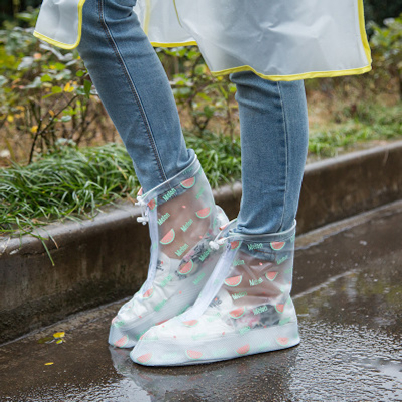 KOTLIKOFF Upgrade 100% waterproof rainproof shoe cover overshoes are thick rain tourism  ...