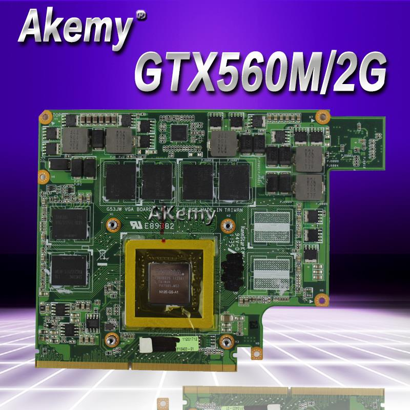 Akemy G73SW VGA Board GTX 560M GTX560M N12E-GS-A1 2GB DDR5 MXMIII VGA Video Card For ASUS G73SW G73JW G53SW G53SX G53JW Laptop