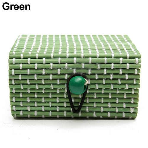 Perhiasan Kasus Penyimpanan Kayu Bambu Kalung Cincin Anting-Anting Kotak Perhiasan Kotak Hadiah 11 Warna Perhiasan Kotak Perhiasan Kotak Hadiah