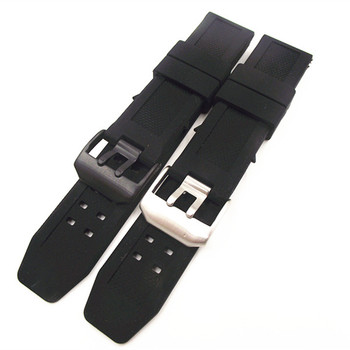Wholesale 10PCS/lot 23mm rubber bands watch band watch straps Silicone watch strap black color
