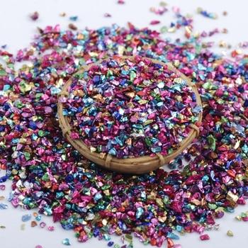 Wholesale prices 450g/Bag Broken Glass Rhinestones for Nails Gems 3D Mix Nail Art Rhinestone Decorations Stones 2