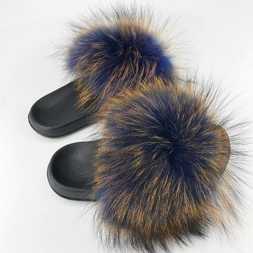 2019 Raccoon Fur Slippers Women Sliders Casual Fox Hair Flat Fluffy Home Summer Big Size 45 Furry Flip Flops Shoes wholesale2019 Raccoon Fur Slippers Women Sliders Casual Fox Hair Flat Fluffy Home Summer Big Size 45 Furry Flip Flops Shoes wholesale