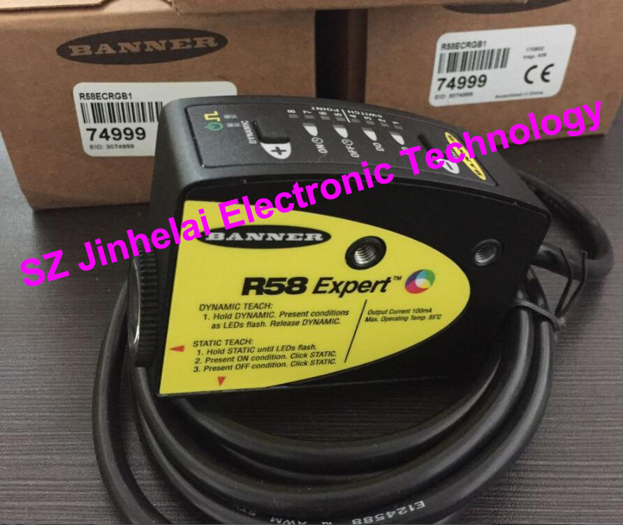 New and original BANNER  Color code sensor  R58ECRGB1 qs186le qs18vp6r new and original banner laser sensor pnp output