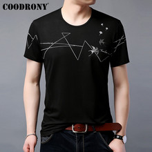 COODRONY Cotton T Shirt Men Short Sleeve T-Shirt Chinese Painting Summer Casual Mens T-Shirts O-Neck Tee Homme S95048