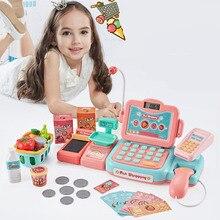 Baby Supermarket Cash Register Toy Set Child Simulation Cashier Simulation Card Scanning Child Play House Boy Girl Toy