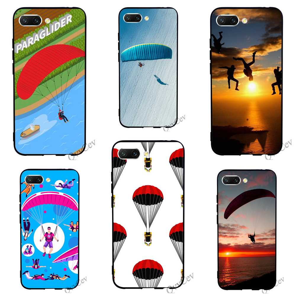 Pattern Paragliding Paraglider Phone Case for Huawei Honor Nova 3i Cover 3 10 8 9 Lite 7A Pro 7X 7C 6A Y6 Prime Back