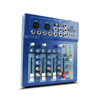 F4 4 road professional performance mixer with reverb USB stage / dance DJ mixer Effects Processors