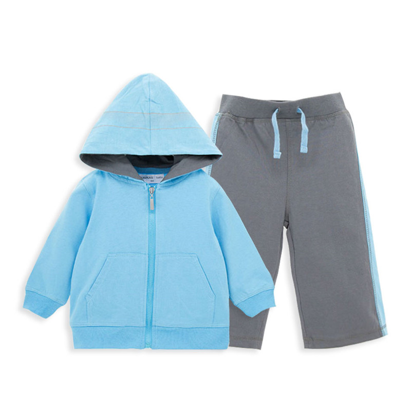 2PC Toddler Baby Boys Clothes Sport Outfit Infant Boy Kids Hoodies+Pants Casual Clothing Autumn/Summer Children Clothing