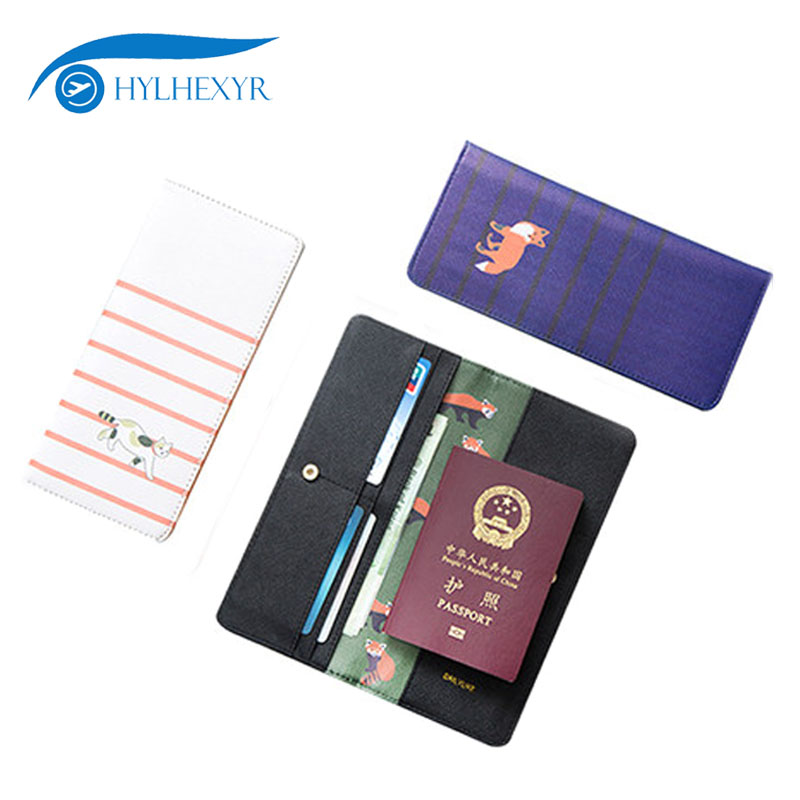 Hylhexyr Business Trip Travel PU Passport Cover Bag Card Case Package ID Holder Wallet Pocket Purse Money Bags Organizer 3d skull floral pu leather passport cover wallet travel function credit card package id holder storage money organizer clutch
