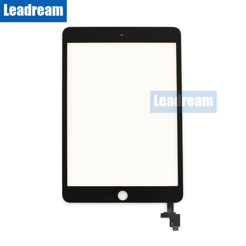 IC Connector 2 White Touch Glass Digitizer Screen iPad Mini 1 Home Button