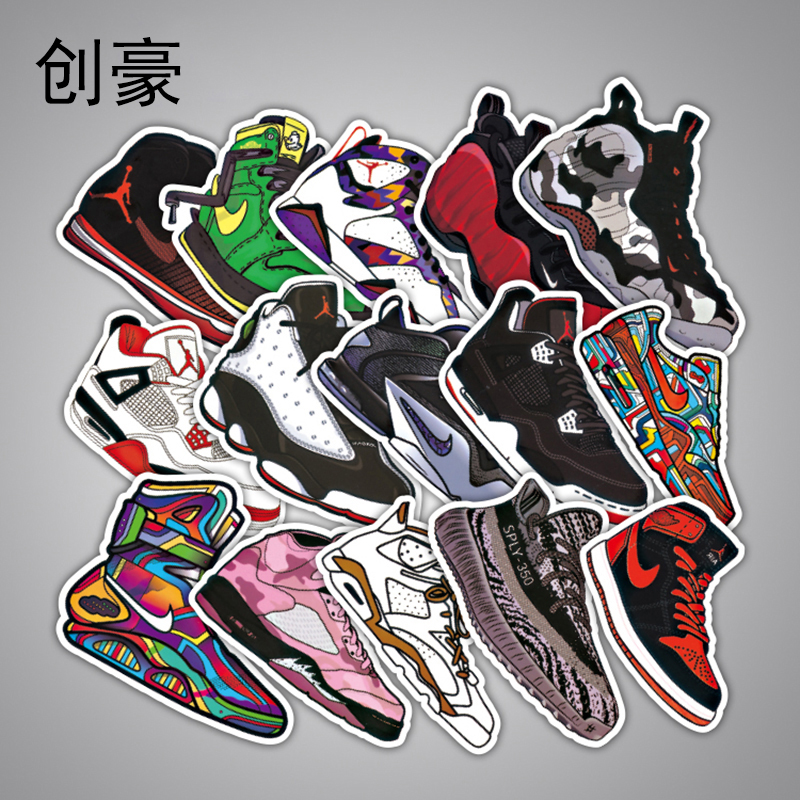 Hot not repeating cartoon stickers for kids laptop car decal fridge skateboard bike jordan graffiti waterproof stickers 36pcs b in stickers from toys