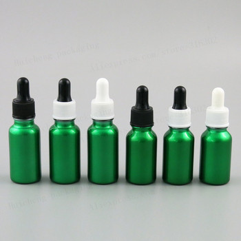 200 x Empty Refillable Paint Green Glass Dropper Bottles for Essential Oil Glass Piepette Dropper Container 15ml 20ml