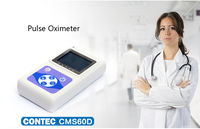 CONTEC Blood Oxygen Saturation Monitor SpO2 Storage Function Real Time Data Uploaded PC Oximeter Infant Kids Fingertip