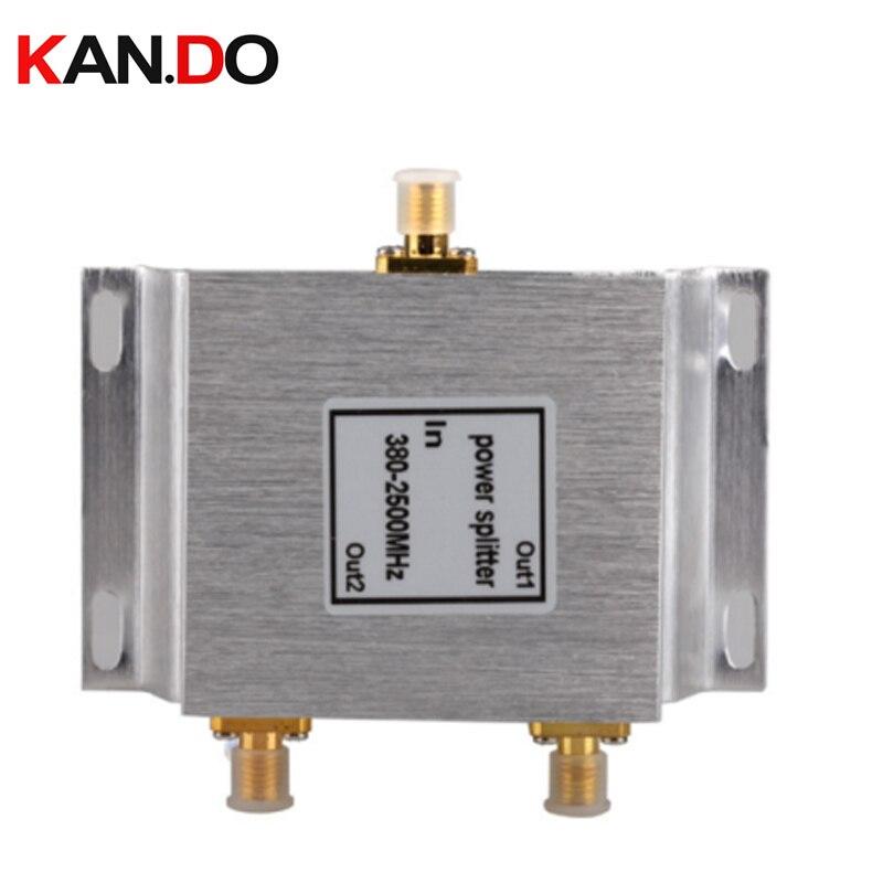 10pcs,2 Ways telecom SMA Power Splitter (380-2500MHz) SMA power divider radio devide frequency splitter for communication