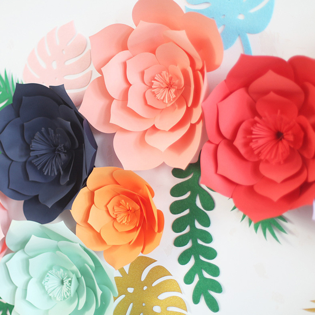 Artificial flowers rose paper decoration wedding home decor party artificial flowers rose paper decoration wedding home decor party scrapbooking diy handmade valentines day event walls mightylinksfo