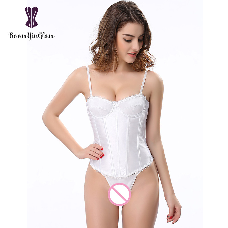 Free Shipping Adjustable Spaghetti Straps Slimming Body Shapewear Bra Bustier Wedding Wear Bridal Corset With G String 862#