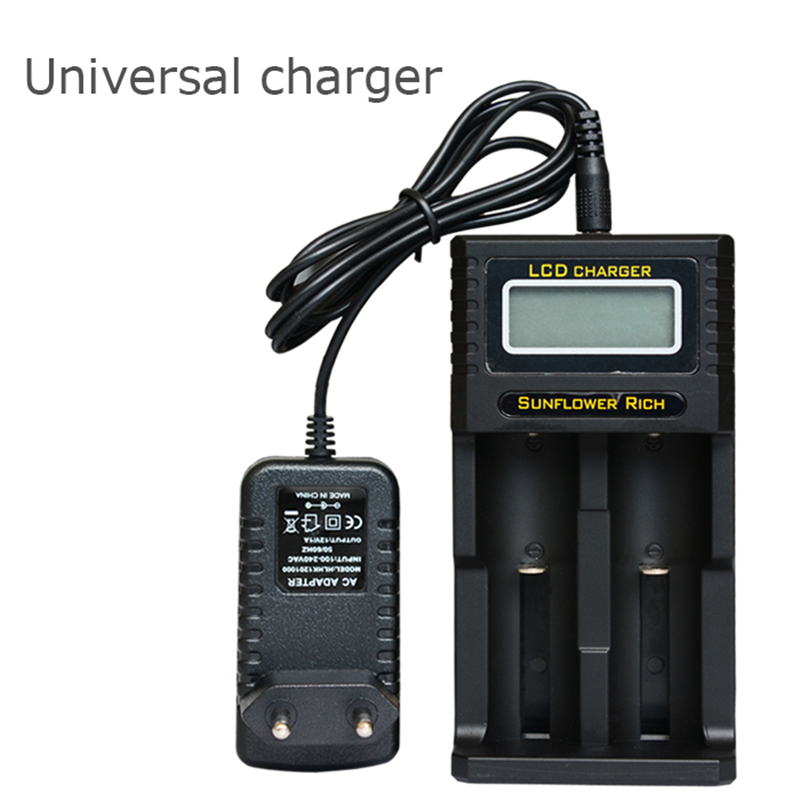KingWei 1pcs New Black EU US Plug Universal Charger for 18650 16340 10440 18500 Rechargeable Battery DC 5V Free Shipping