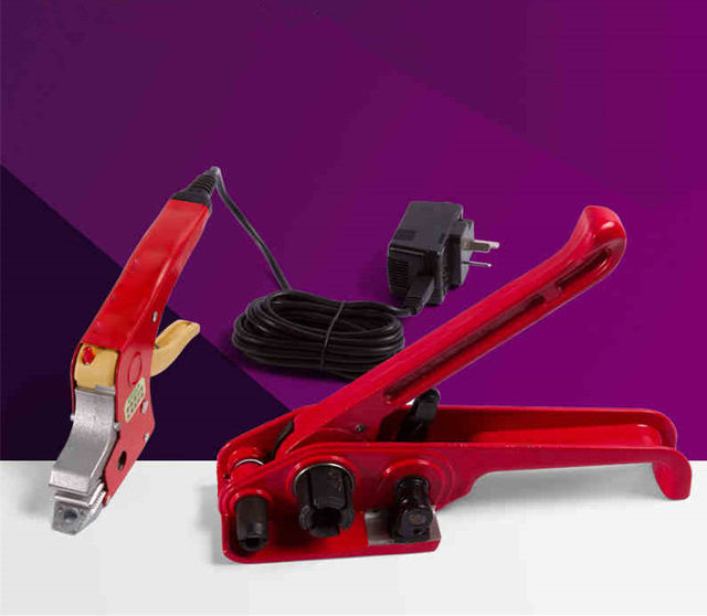 Hand held carton strapping machine electrical PP packing equipment tensioner and electric hot straps welding banding