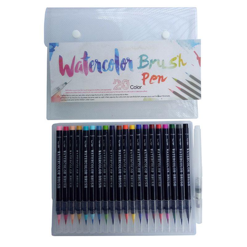 Hot Deal #5161 - 20 Color Premium Painting Soft Brush Pen ...
