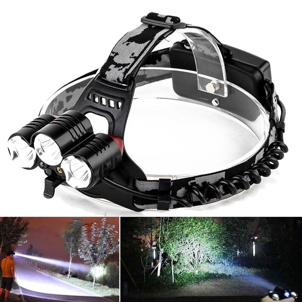 15000LM LED Headlight Flashlight Torch Cree 3x XM-L T6 Headlamp Head Light Lamp