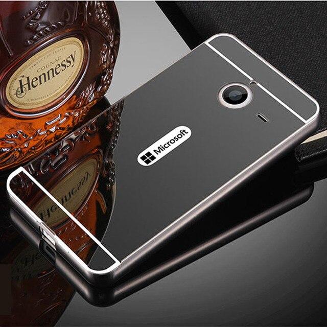 buy popular f1b6e 2e6d1 Aliexpress.com : Buy Lumia 640 XL Case Mirror Aluminum Metal Bumper & Hard  PC Back Phone Cases For Microsoft Lumia 640 XL Cover Case 640XL Fundas from  ...