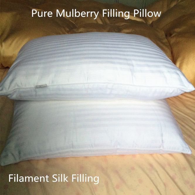 100 Mulberry Silk Filling pillow Eco Friendly pure silk 74 X 48 cm 750 g to