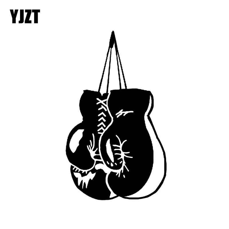 Yjzt 9 7 16 2cm Coolest Sport Boxing Gloves Silhouette Car