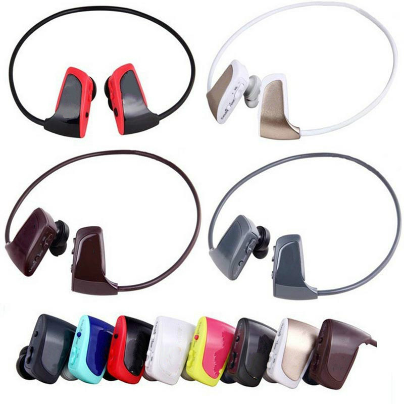 ipx5 Waterproof 4GB or 8GB Sport Bluetooth Mp3 Player Earphone Headphone Stereo for Bicyling Jogging