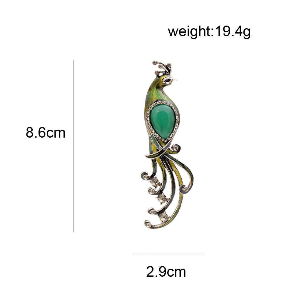シンディ XIANG 3 色選択オパールラインストーンピーコックブローチ女性のためのヴィンテージエレガントなブローチピン動物ジュエリー秋のデザイン