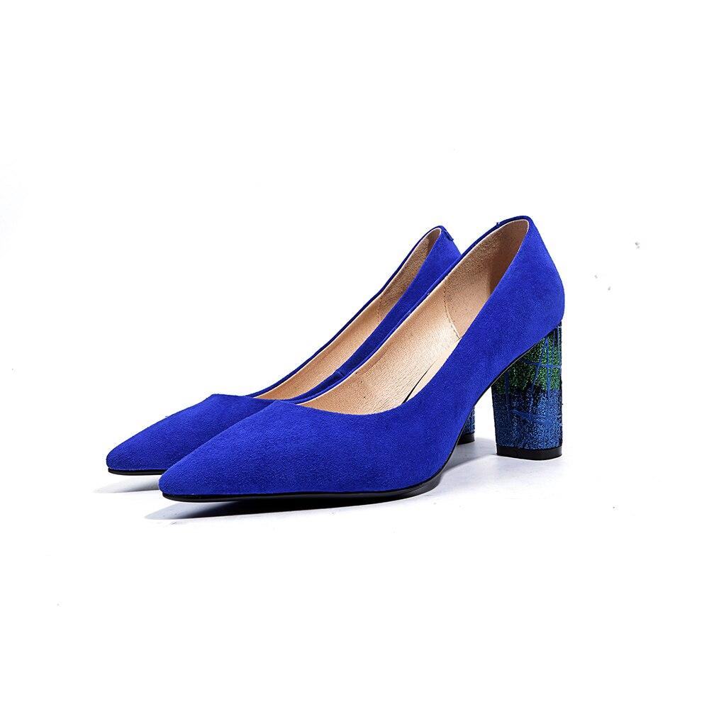 Arden Office Fashion Cm Furtado 2018 Alti 43 Di Vestito Lady Size Black Dalle Tacchi 8 Blu on Donne Pompe Autunno Scarpe Primavera Big Slip blue Donna rrqw0x6U