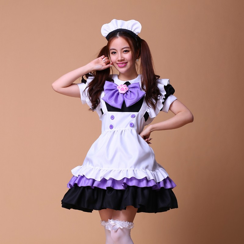 Adult Pink Sissy Lolita French Sexy Maid Uniform Fancy -3329