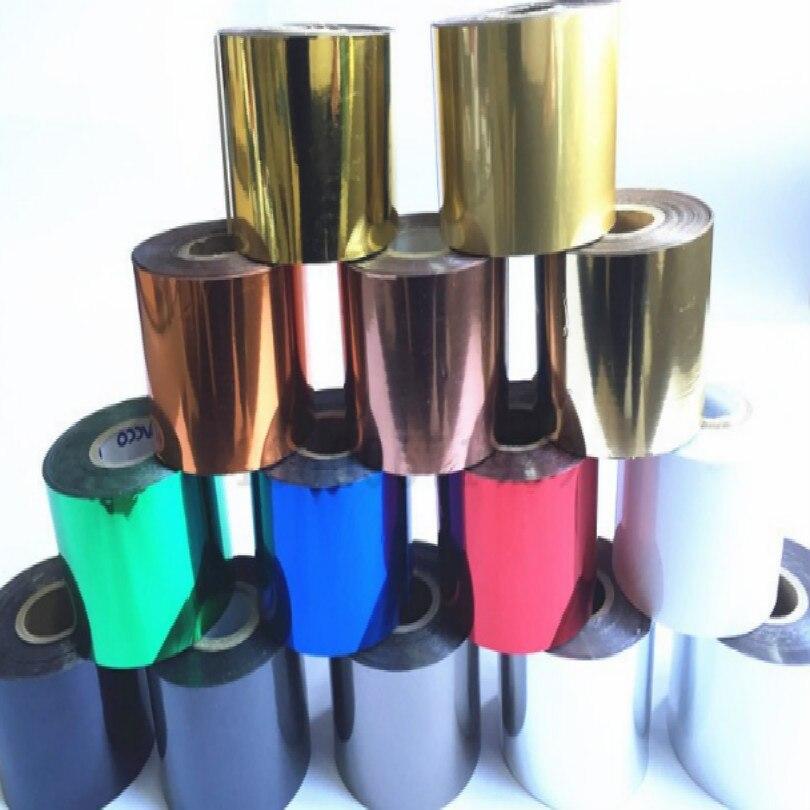 Breite 5 CM heißer folie drucker heißprägefolie für wärme drücken maschine goldene silber rot grün blau weiß blau schwarz kostenloser versand