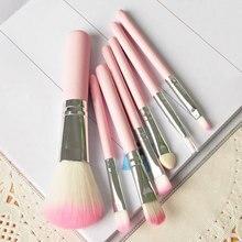 Косметическая set древесины kit кисти розовый профессиональный макияж комплект шт.