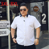 10XL 9XL 8XL 6XL 5XL 2018 Solid Casual Shirt Men Social Dress Shirts Summer Chemise Homme
