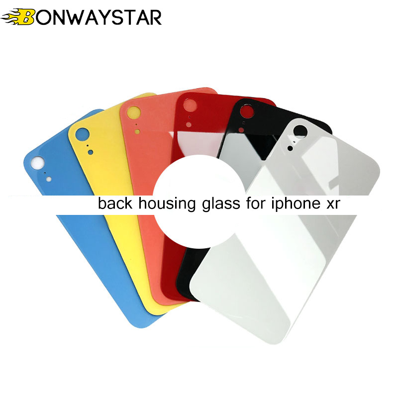 New Back Housing Cover Glass Rear for iphone xr Assemble housing glass Replacement Parts with Camera Flash Lens for iphone xr(China)