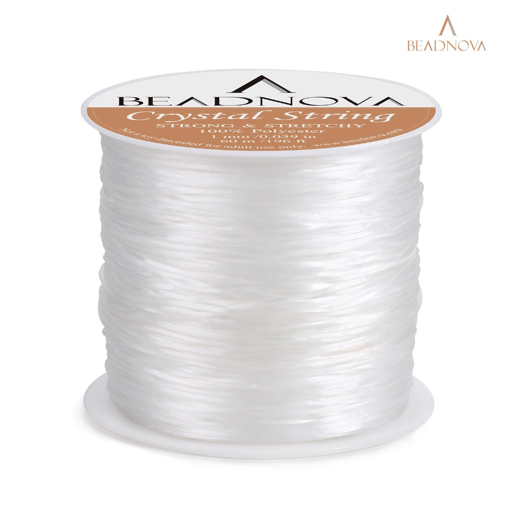 1mm Elastic Stretch Polyester Crystal String Cord rope for Jewelry Making DIY Bracelet Necklace Beading Thread wire 60m roll in Jewelry Findings Components from Jewelry Accessories
