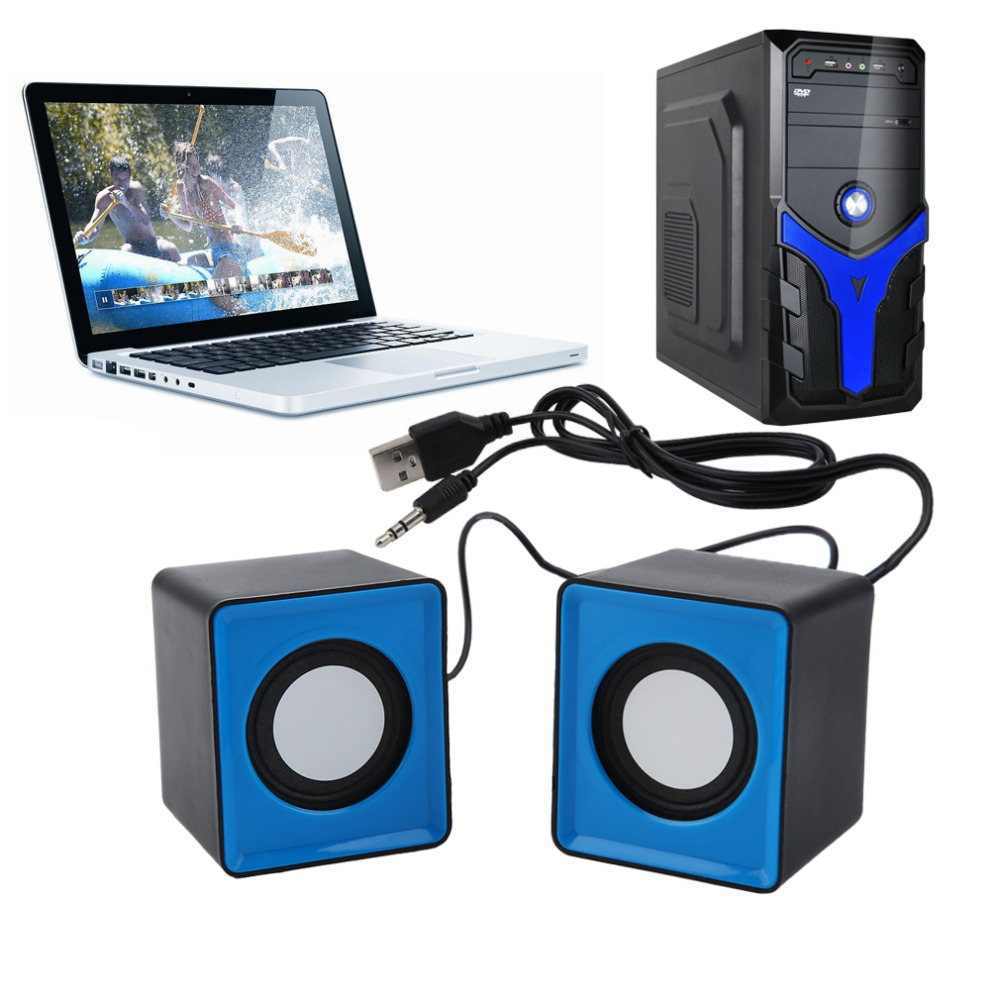 Dpower Portable Mini USB 2.0 speakers Music Stereo for computer Desktop PC Laptop Notebook Home Theater Party Loudspeaker HOT