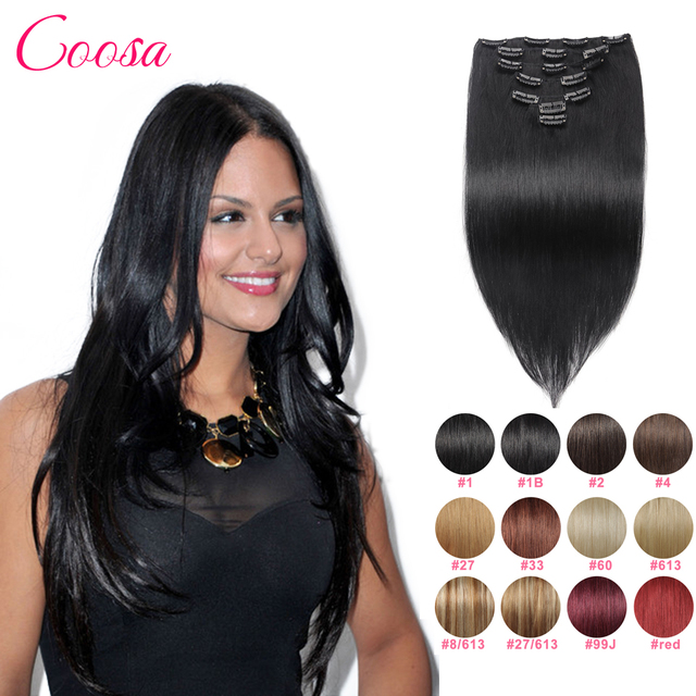 Extesnions Cabelo Humano Brasileiro reta Clipes em Aparência Natural tic tac cabelo humano Remy Clipe Ins Extensão Do Cabelo Humano de Cor