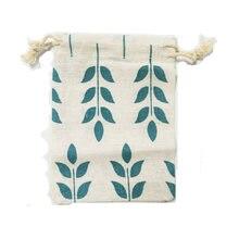 50 шт/лот маленькие сумки из хлопка 9x12 см свадебные сувениры