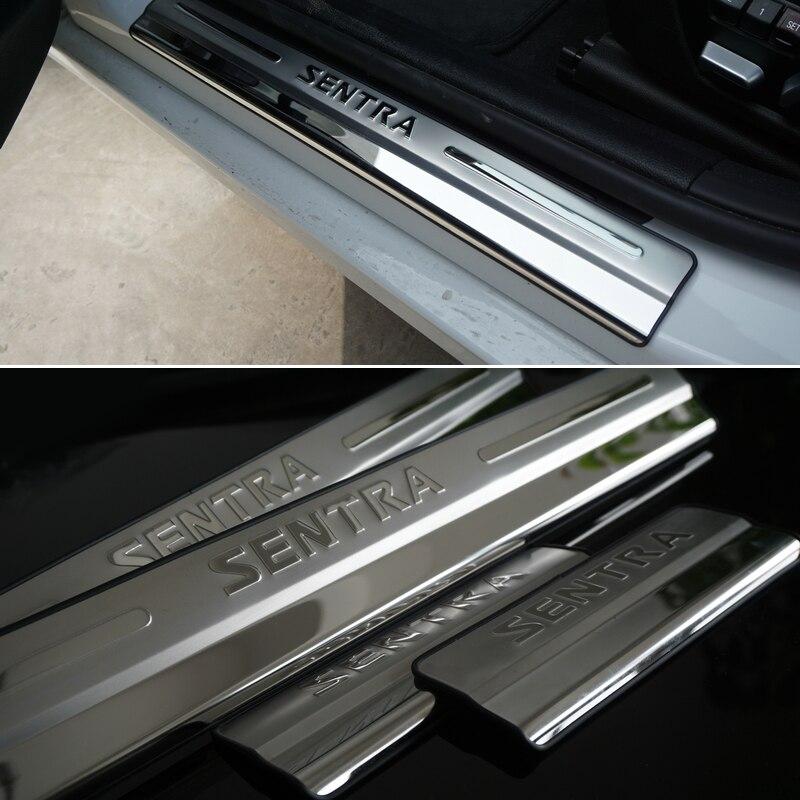 2014 Nissan Sentra Interior: Car Accessories Stainless Steel Side Door Scuff Plate Door
