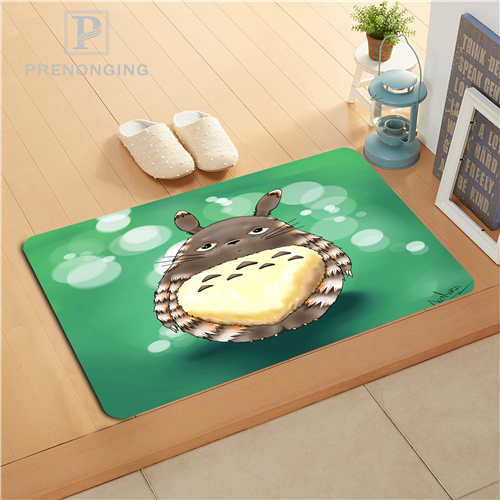Custom Cartoon Totoro Doormat Print slip-resistant Mats Floor Bedroom Living Room Rugs 40x60cm 50x80cm Free Shipping 171128-24