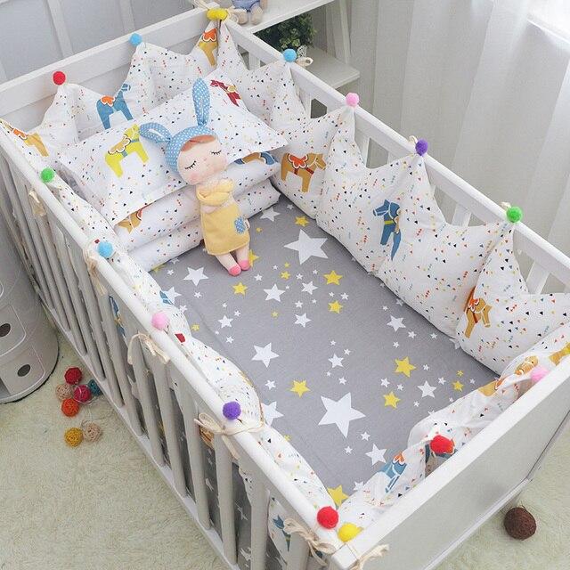 5 Teilesatz Märchen Cockhorse Baby Bettwäsche Set Baumwolle